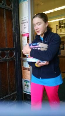 Girl carrying books