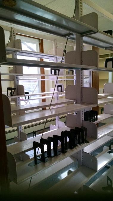 Empty shelves. A job well done.