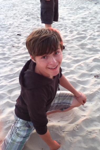 Zeb at the beach
