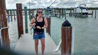 Chrissie Caught a Fish!