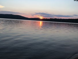 Sunset at Lake Eaton in the Adirondacks after a family reunion.