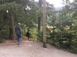 Early morning walks with some of my team-mates at Whistler.