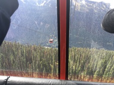 View during the peak to peak gondola ride at Whistler