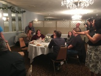 Speakers' dinner at WordCamp Rochester.