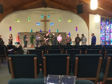 Rehearsal in the chapel