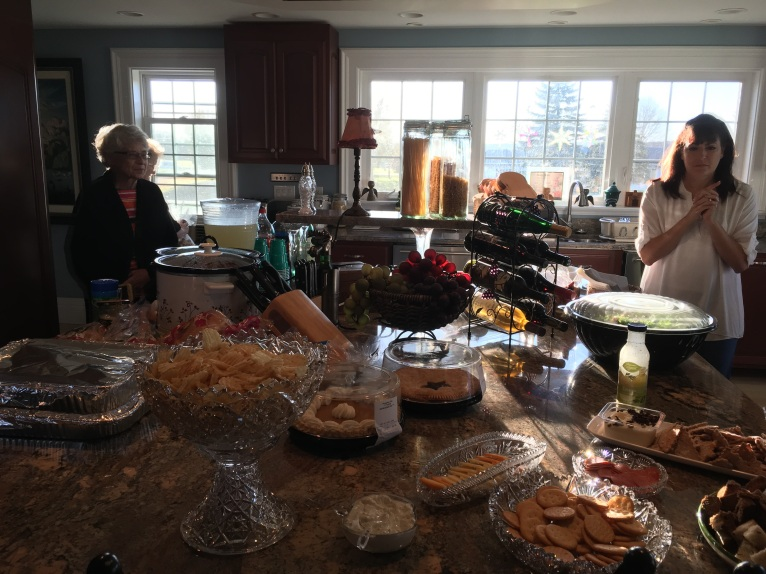 Amazing food supply at the bridal shower.