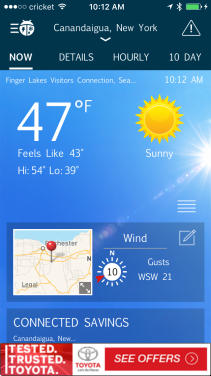 54 and sunny in November in western NY? Amazing! What a gift for a wedding day.