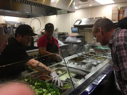 Food at Cafe Rio