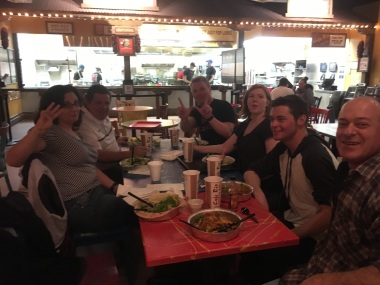 Friends eating at Cafe Rio