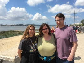 Chrissie, Lise and Chris by the Tagus