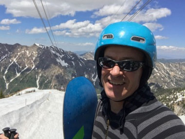 Snowboarding in June? Does life *get* any better?
