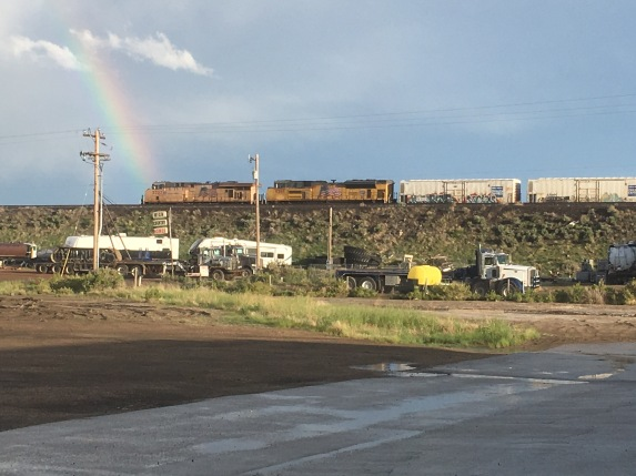 Train and Rainbow