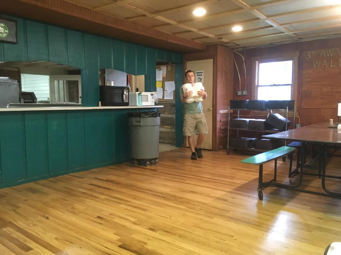 Hudi in his element - the kitchen