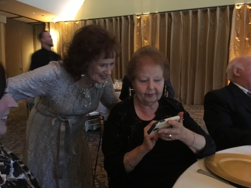 Mom and Wilma with Phone